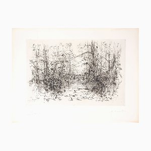 Yves- Jean COMMERE : Un instant de repos - Gravure originale signée