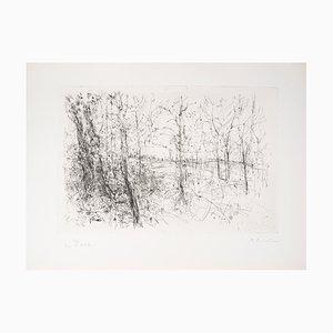 A la Lisière des Bois Engraving by Jean-Yves Commère