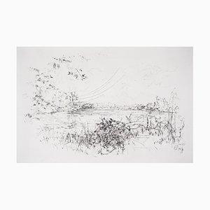 Vue Sur le Lac Engraving by Jean-Yves Commère