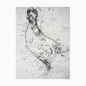 Yves- Jean COMMERE : Poule faisane - Gravure originale signée