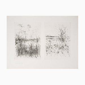 Vues Sur Les Champs Engraving by Jean-Yves Commère