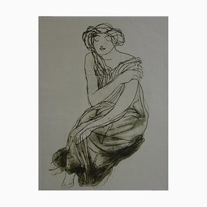 The Bare Shoulder Engraving Reprint by Auguste Rodin, 1904