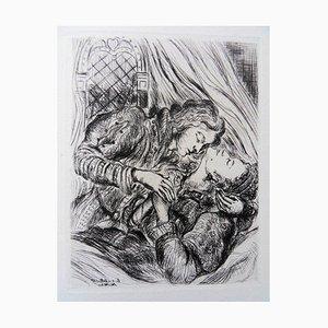 Les Amants Engraving by Luc Albert Moreau, 1942