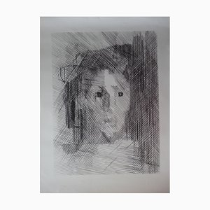Jeune-fille Lithograph Reprint by Jacques Villon, 1959