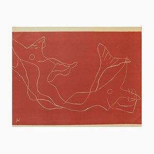 Two Mermaids Engraving by Henri Laurens, 1959