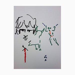Toréador élégant Lithograph by Jean Cocteau, 1965