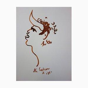 Jean COCTEAU : Toréador sauvage - Lithographie signée, 1965