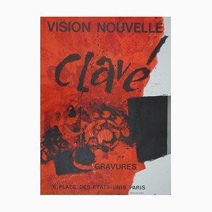 Antoni CLAVE Intérieur : Fleurs abstraites - Lithographie originale signée, 1975