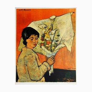 Femme au bouquet Lithographie nach Vincent van Gogh von André Minaux