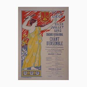 La Personnification du Chant Lithograph by Auguste Donnay, 1897