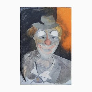 Le Clown Lithograph by Camille Hilaire