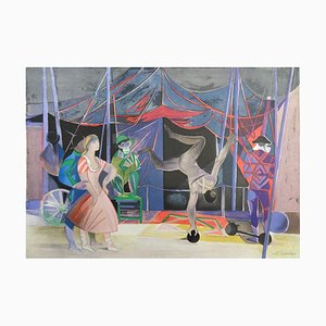 The Acrobats II Lithograph by Camille Hilaire