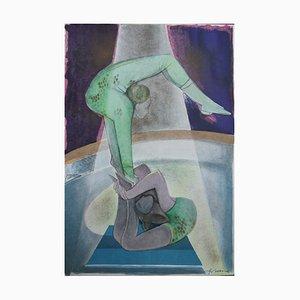 Camille HILAIRE - Les gymnastes, lithographie signée