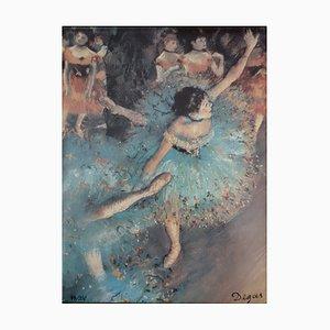 The Dancers in Green Screenprint Repring by Edgar Degas