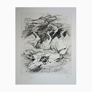The Black Beast Etching by Germaine De Coster