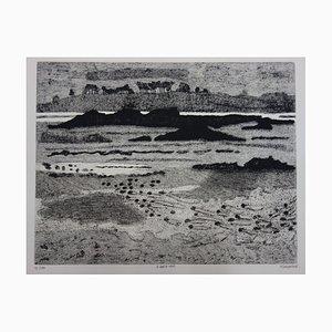 A Basse Mer Engraving by Jacques Ramondot