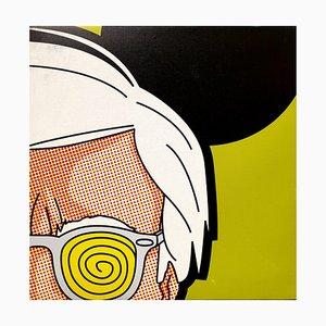 Warhol Reprografie auf Leinwand von Léon