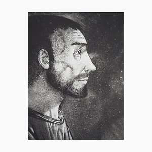Homme de Profil (Emmaüs) Engraving by Michel Ciry