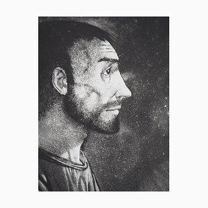 Homme de Profil (Emmaüs) Radierung von Michel Ciry