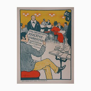 Café Mondain Lithograph by Paul Fischer, 1897