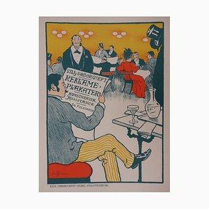 Café Mondain Lithographie von Paul Fischer, 1897