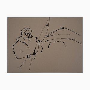 Pêcheur Drawing by René Genis
