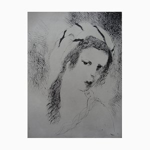 Jeanne Etching by Marie Laurencin