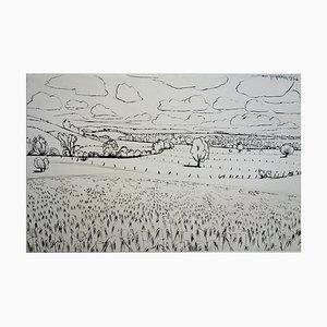 Pastures in Lorraine Stich von André Jacquemin