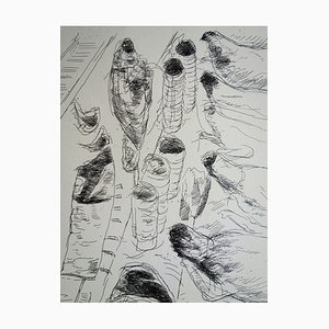 The Butcher's Counter Engraving by André Dunoyer de Segonzac