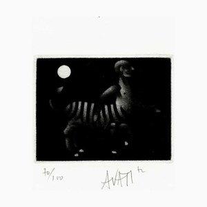 Mario AVATI : Enorme oeuf - Gravure originale signée