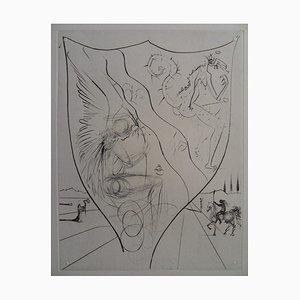 Salvador Dali - Alexis or the Treaty of Vain Desire, engraving