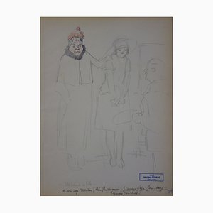 Jeune Fille Avec sa Gouvernante Zeichnung von Georges Conrad