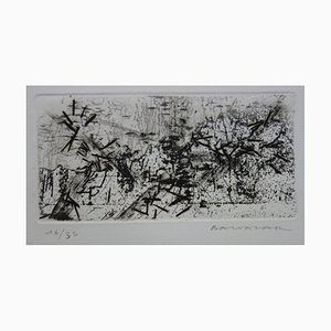 Paysage Abstrait Engraving by Julius Baltazar