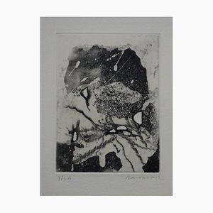 Winter Landscape Etching by Julius Baltazar