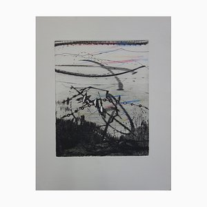 Soleil Sur la Dune Engraving by Julius Baltazar