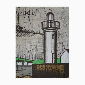 Bernard BUFFET - Brittany, Lighthouse Guilvinec - original lithograph