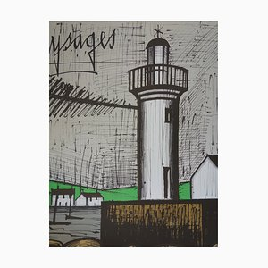 Brittany, Lighthouse Guilvinec Lithograph by Bernard Buffet