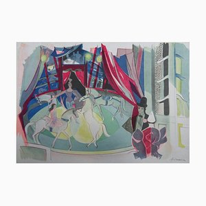 The Circus Lithograph by Camille Hilaire