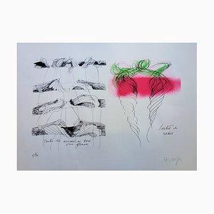 Sortie de Radis Lithographie von Jean Messagier