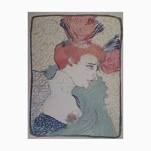 Henri Toulouse-Lautrec - Lender with saluting bust, lithograph