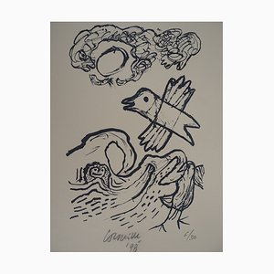 Seagulls at Sea Lithograph by Corneille, 1998