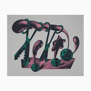 Les Paires de Ciseaux Lithographie von Atanas Mialtchev