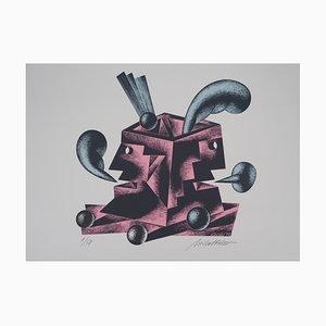 Le Souffle des Jumeaux Lithograph by Atanas Mihaltchev