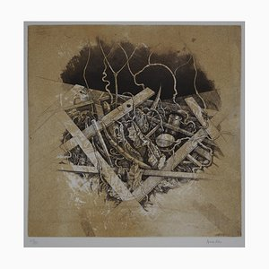 Le Bec Engraving by Hiroshi Asada