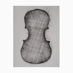 ARMAN - The pierced violin, 1979, original engraving
