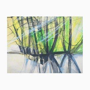 Camille HILAIRE : Soleil éclatant sur L'Andlau - Lithographie originale Signée