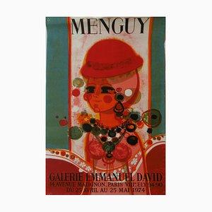 Frederic Menguy - Affiche Galerie Emmanuel David, 1974