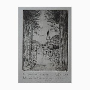 Petite vue de Courbouzon Engraving by Gilbert Poillerat