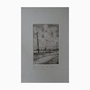 Petite vue de Conan Engraving by Gilbert Poillerat