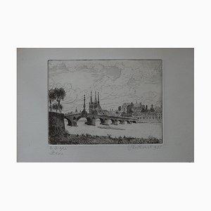 Blois Engraving by Gilbert Poillerat